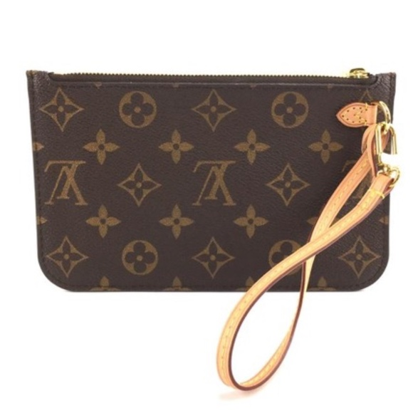 Neverfull Pochette Monogram Canvas Clutch